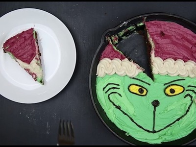 How to Make a DIY Grinch Christmas Skillet Brownie Recipe by Foodstirs™
