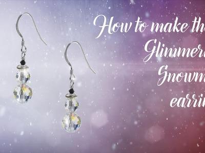 How to make  glimmering snowmen earrings (113)