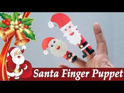 How To Make Santa Finger Puppet - Santa Claus - Easy Paper Crafts - DIY Craft For Kids