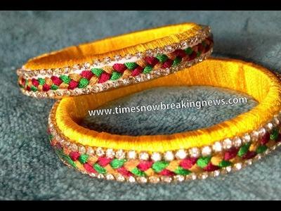 How to make silk thread bangles | silk thread bangles tutorials, diy silk thread bangles