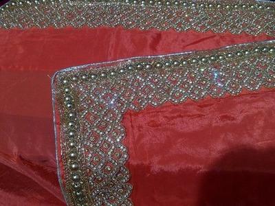 How to stitch a saree fall diy