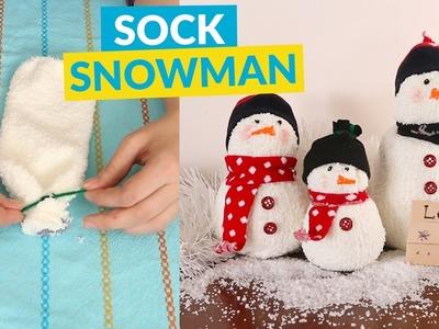 Make An Adorable DIY Sock Snowman!