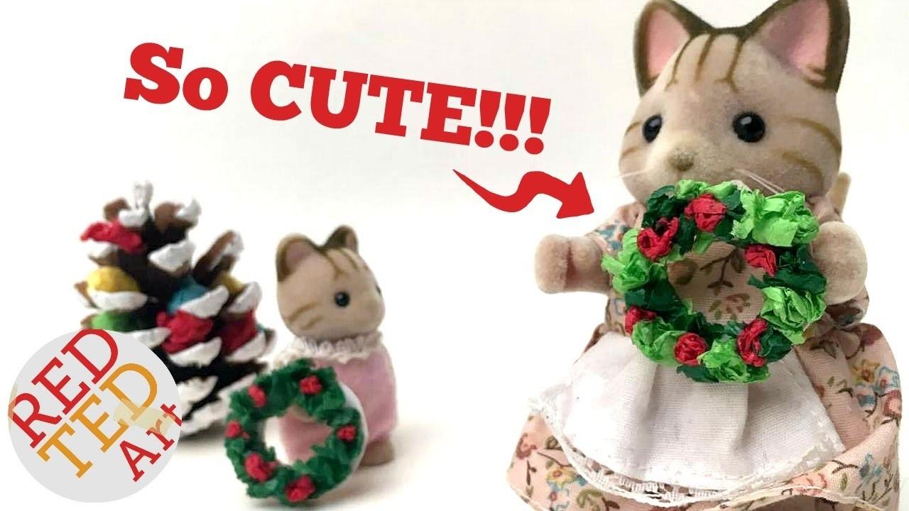 Mini Wreath DIY - Mini Dolls House Accessories - Cute Christmas DIYs