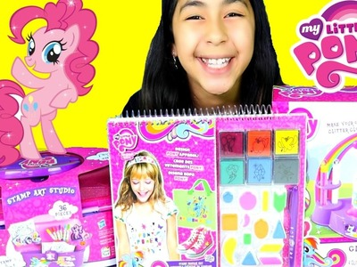My Little Pony DIY Stamp Art Studio Glitter Globe Design Pony Apparel MLP Toys!B2cutecupcakes
