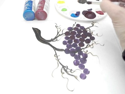 Painting Grapes on Glass With Martha Stewart Multi-Surface paints!!