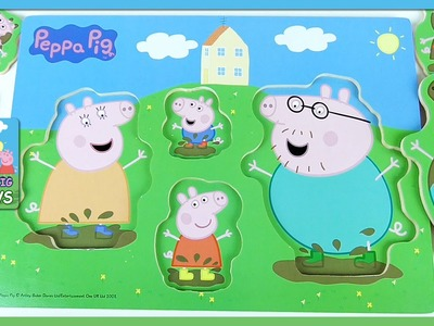 Peppa Pig and Family! Peppa Pig Muddy Puddle Puzzle