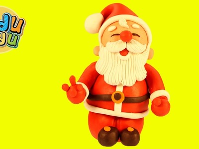 Play Doh DIY How to make Santa Claus | Christmas Play Dough Creations
