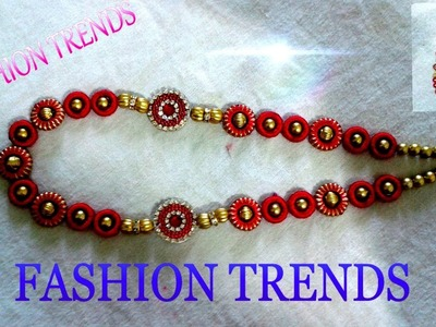 Silk Thread Necklace Making at Home