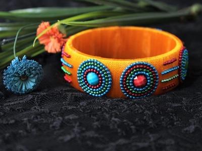 Simple and beautiful Silk thread bangles.Silk thread kada bangles DIY
