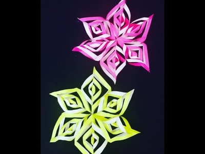 Snowflake DIY Tutorial - How to Make DIY Paper Snowflakes for DIY decorations