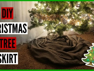 VLOGMAS #6 : EASY & INEXPENSIVE DIY TREE SKIRT!!!