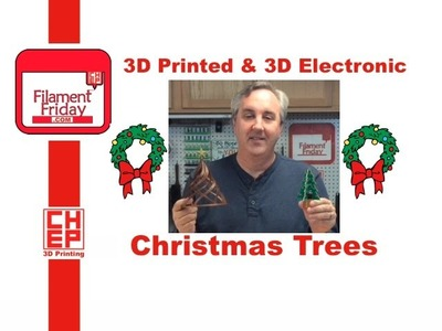 3D Printed Christmas Tree and 3D Electronic Christmas Tree - How To and Assembly
