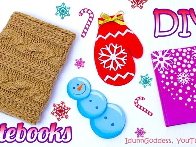 4 DIY Winter Notebooks – How To Make Winter Theme Notebooks