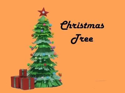 Christmas Tree | How to make Christmas Tree for School Project | How to make a Paper Christmas Tree