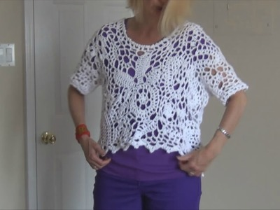 Crochet a Free Form Top Pt 1 0f 10 (talking only in this lesson)