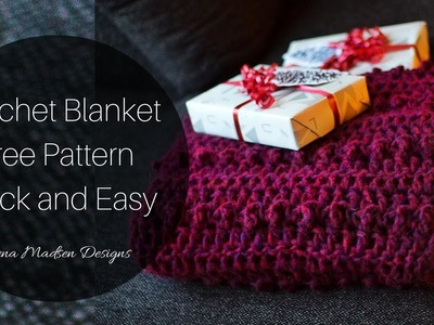 Crochet Blanket Free Pattern Quick and Easy