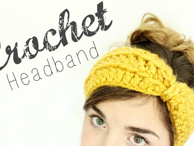 Crochet Bow Headband. Crochet Tutorial. Veronica Marie