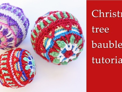 Crochet Christmas tree ball tutorial
