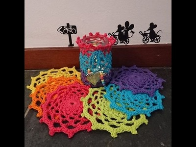 Crochet Gifts - Siem's Easy Coasters - Tutorial English