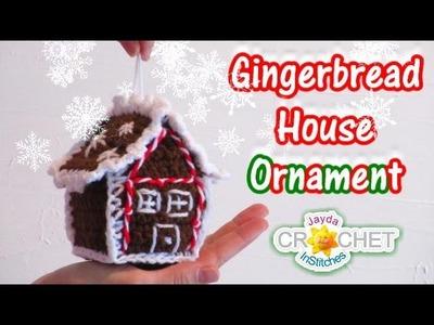 Crochet Gingerbread House Tree Ornament