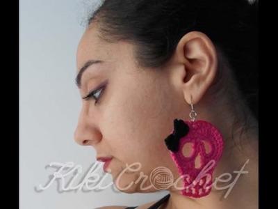 Crochet Skull Earrings