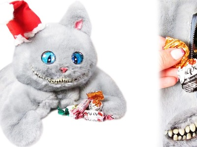 DIY Cheshire Cat Christmas bag