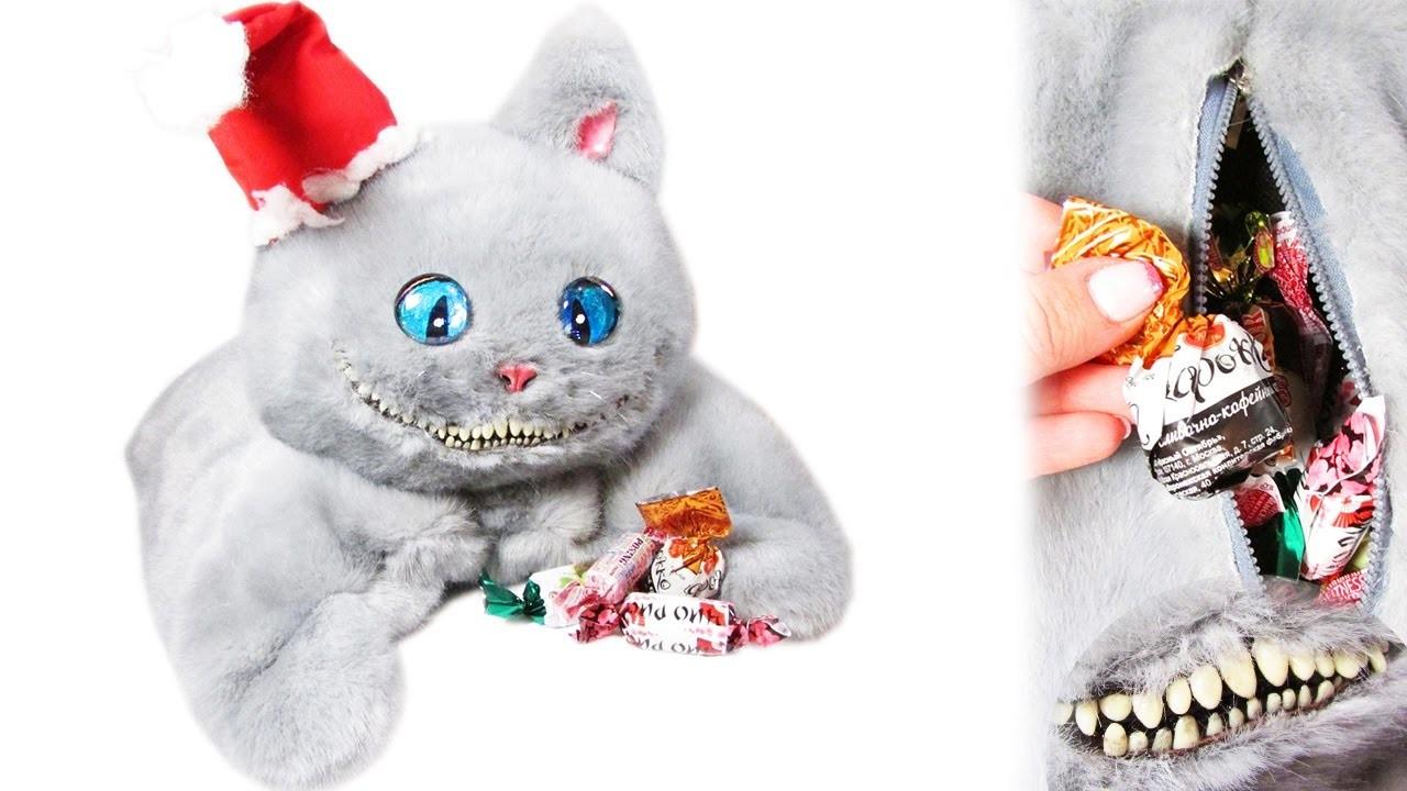 DIY Cheshire Cat Christmas bag