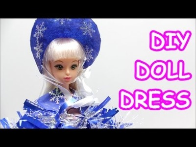 DIY Doll Dress: How to Make Tissue Paper Doll Dress Lady Snow for Barbie | Doll Dress Fun