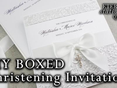 DIY Elegant Christening, Baptism Invitation with decorated box | DIY Invitations for children
