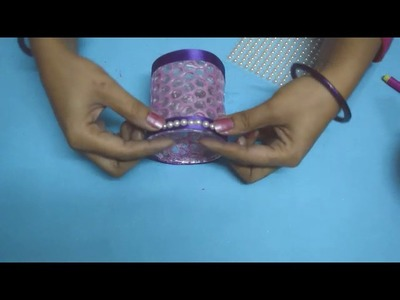 DIY | How to make Candle Holder | Christmas Decoration | Decorative Glass Candle Holder | Nidhi Jain