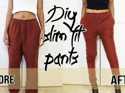 DIY HOW TO SLIM FIT PANTS