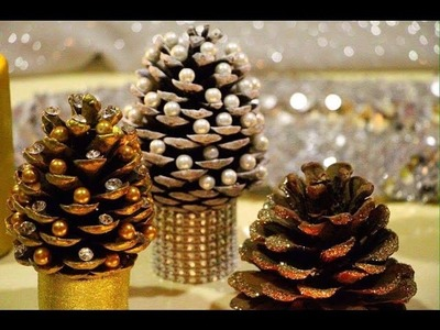DIY Pine cone Christmas Trees - Miniature Christmas Tree Caft DIY Projects