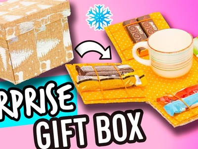 Easy Surprise Box -  DIY Christmas Gift Box | Christmas Crafts | The Cat Crafts