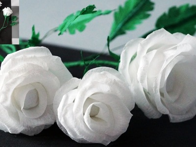 Flowers making. How to Make Rose Tissue Paper. Crepe paper flower making. Julia DIY beauty and easy