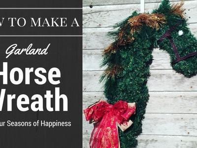Horse wreath tutorial, simple horse wreath, holiday horse wreath tutorial, how to make horse wreath
