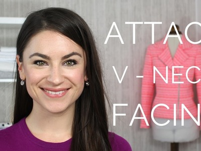 How To: Attach V-Neck Facing