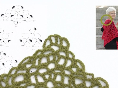 How to begin crocheting the Christmas shawl in DROPS Extra 0-1333