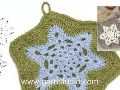 How to crochet the pot holders in DROPS Extra 0-1339