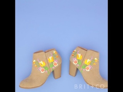 How to DIY Embroidered Boots