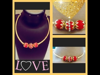 How to do choker necklace in home easy way