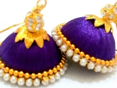 How to do Silk Thread Jhumkas ||GIVEAWAY|| Easy and Simple Silk Thread Jhumkas || GENERATION_DIY
