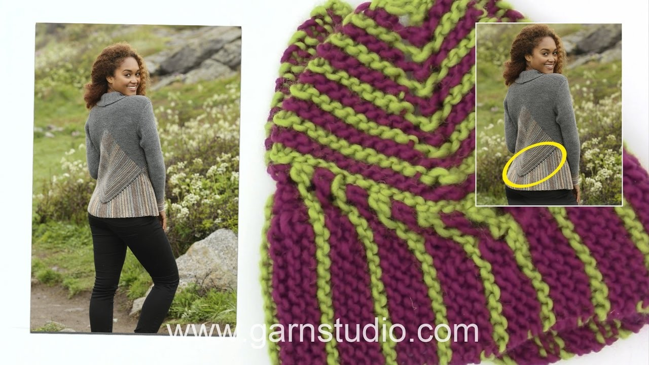 How to knit the bottom edge on DROPS 173-15