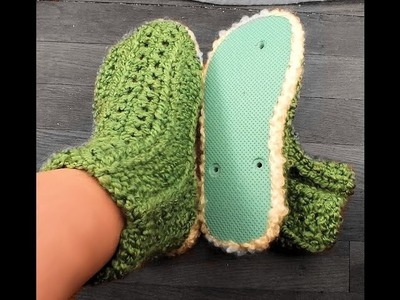 How to Loom Knit Booties for Flip Flop Bottoms