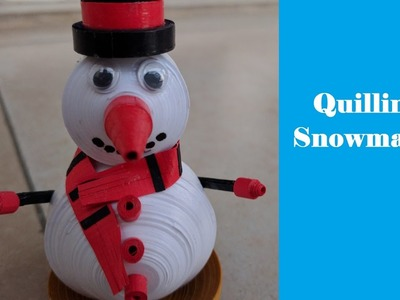 How to make 3D miniature Quilling Snowman | Tutorial | DIY