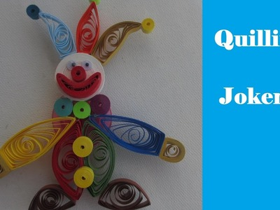 How to make 3D Quilling Joker | DIY | Gift