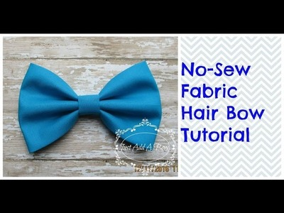 """HOW TO: Make a 5"""" No Sew Fabric Hair Bow by Just Add A Bow"""