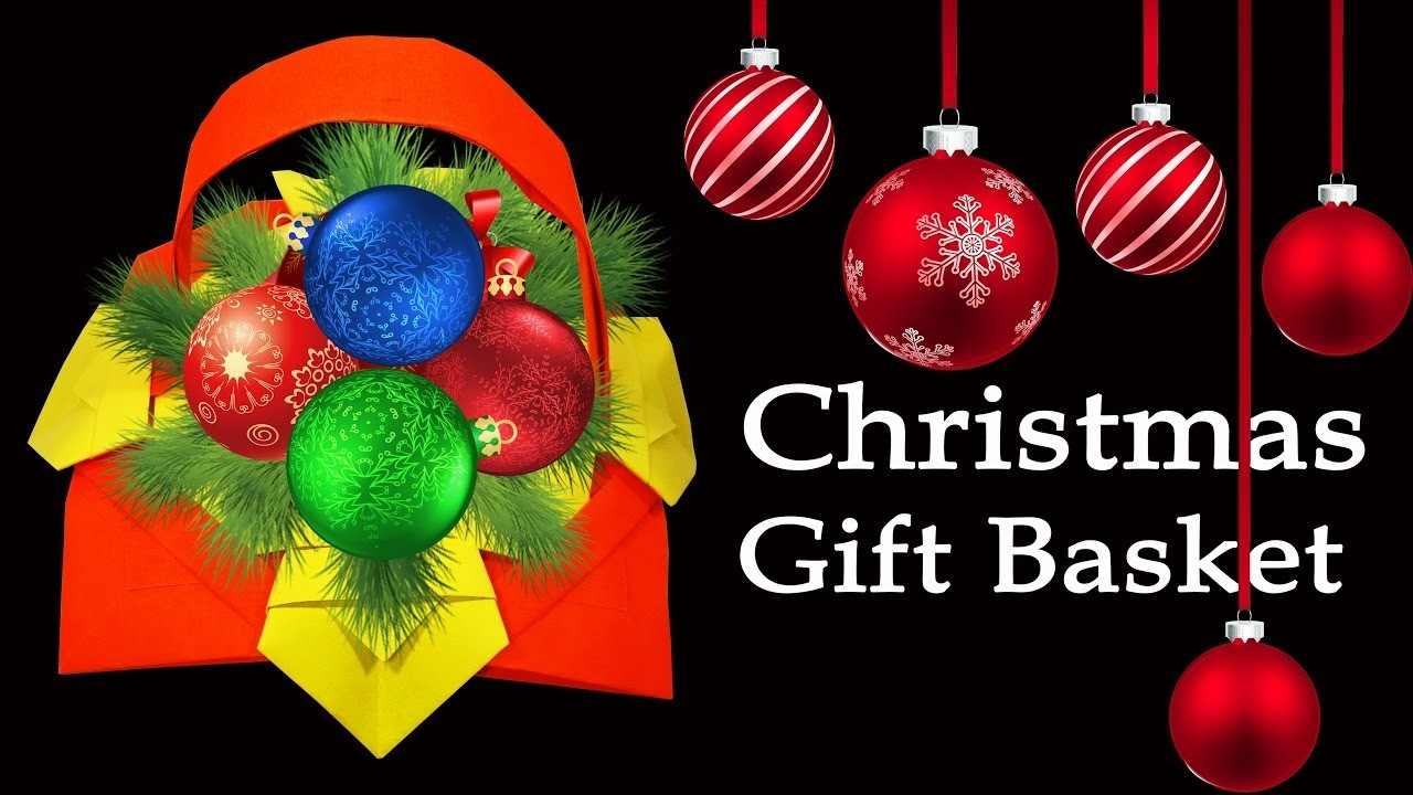 How to Make A Beautiful Christmas Gift Basket : HD