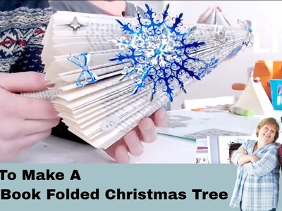 How to Make a Easy Book Folded Christmas Tree No.30 Tonic Live