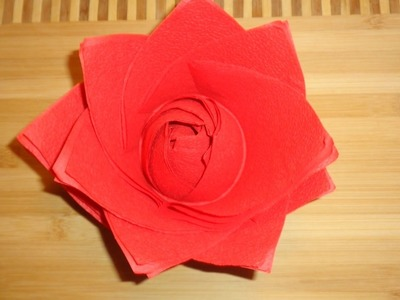 HOW TO MAKE A FLOWER OF  NAPKINS - FOLDING NAPKINS FLOWER &  FLOWER NAPKINS