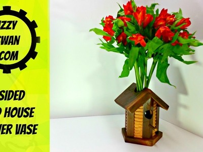 (how to make)  a flower vase using a cool router trick